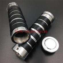 """Replacement Motorcycle 1"""" Handlebar Grips Fit for Harle Davidson bikes CHROMED"""