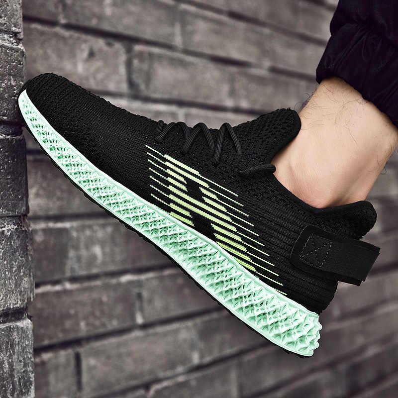 2019 koşu ayakkabısı erkekler için yetişkin nefes örgü açık yürüyüş spor ayakkabı erkekler yastıklama spor ayakkabılar 4D baskı spor ayakkabı