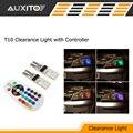 RGB T10 Coche LLEVÓ La Lámpara W5W Liquidación luz de Estacionamiento con controlador para mitsubishi asx lancer 9 10 outlander pajero l200 galant