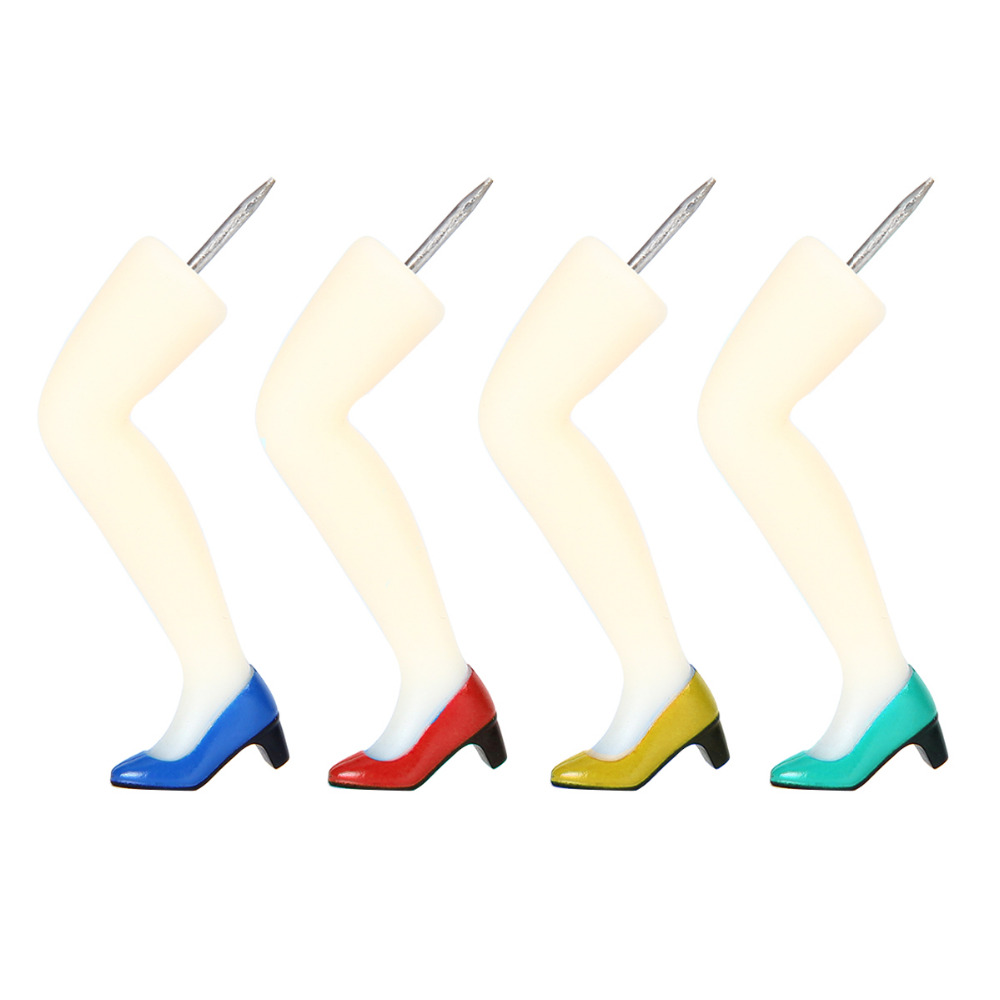 4pcs Sexy Beauty Legs Shape Plastic Quality ABS+ metal Safety Colored Push Pins Thumbtack Office School Accessories Supplies4pcs Sexy Beauty Legs Shape Plastic Quality ABS+ metal Safety Colored Push Pins Thumbtack Office School Accessories Supplies