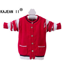 Girls Boys Sweater New 2017 children sweaters tiny cottons cardigan Wool Coat Warm Winter Spring Autumn Coats knitting pullovers