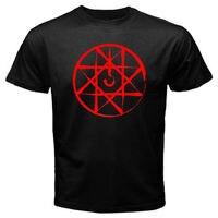 Venta 100% Algodón Camiseta Nuevo Sello de Dibujos Animados Anime Fullmetal Alchemist hombres Blanco Negro T-Shirt Tamaño S-3XL