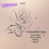 DCTAL Beauty Salon Sticker Spa Massage Decal Beauty Posters Vinyl Wall Decals Decor Mural Beauty Salon Sticker