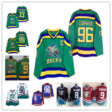 0b337ddbc Men's Mighty Ducks Movie Jersey #96 Charlie Conway 33 Greg Goldberg 99 Adam  Banks 9