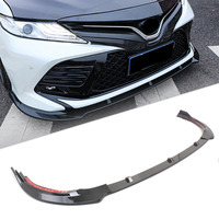 Car Front Bumper Lip Cover Trim For Toyota Camry 2018 SE Only Gloss Black ABS Plastic 3PCS