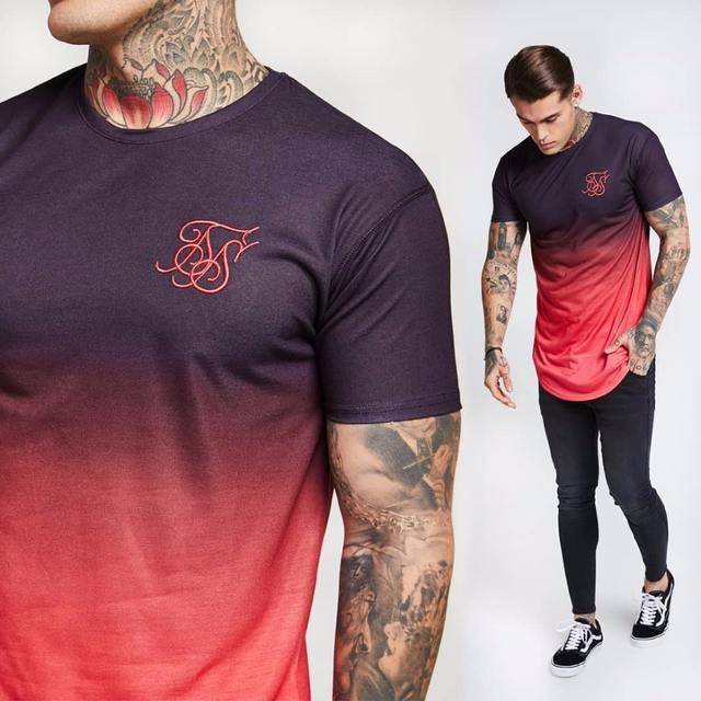 Fashion summer Kanye West Sik Silk Men Casual Hip Hop Swag Tyga Irregular cut Zipper Short Sleeved T-shirts Khaki green red