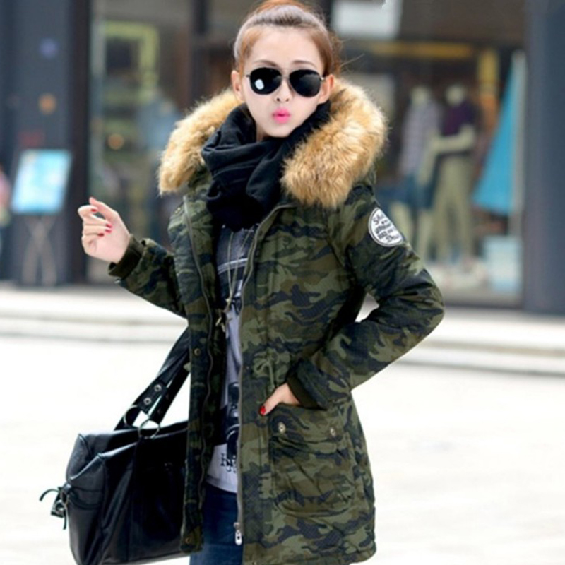 2017Winter Jacket Women Large Real Natural Raccoon Fur Collar Fashion Thick Warm Coat Outwear Parkas Cotton-Padded Hooded M-4XL furlove new real large raccoon fur winter coat women jacket coats collar thicken warm padded cotton lady parkas female jacket