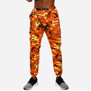 Orange Camouflage Joggers Pants Men Fashion Military Tactical Skinny Trousers Sports Harem Camo Pink For Men/Women - discount item  40% OFF Pants