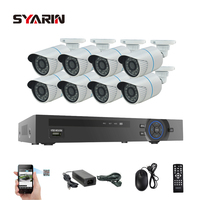 TEATE Surveillance 8CH 1080P POE NVR System Kit 1 3MP 960P ONVIF P2p IP Camera CCTV