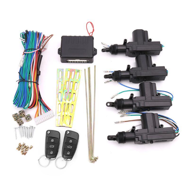 Kit de verrouillage Central à télécommande de voiture système d'entrée sans clé actionneur de serrure de porte de moteur de 12 volts alarme antivol d'automobiles