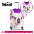 Cubierta Protectora para el Equipaje Animal perro Dogo lindo Spandex Cubierta de la Caja Para 18-30 pulgadas Maletas de Equipaje Equipaje Impermeable Cubre