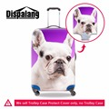 Cute Bulldog Luggage Protective Cover Animal dog Luggage Case Cover For 18-30 inch Suitcases Spandex Waterproof Luggage Covers