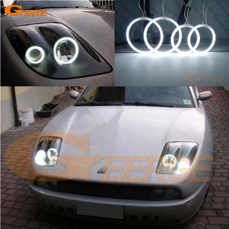 Pro Fiat Coupe 1993 1994 1995 1996 1997 1998 1999 2000 Vynikající Ultra jasné osvětlení CCFL Kit Angel Eyes Halo Ring