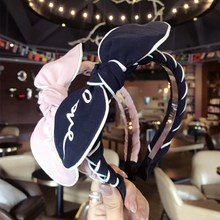 Korea LOVE Letter Printed Bow Twist Hair Accessories Hairband Crystal Crown Band Headbands For Girls