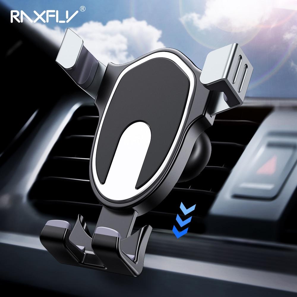 RAXFLY Schwerkraft Auto Halter Für iPhone X 6 7 Universal Telefon Halter in Auto 360 Grad Air Vent Telefon Auto halter Für Huawei P20 Pro