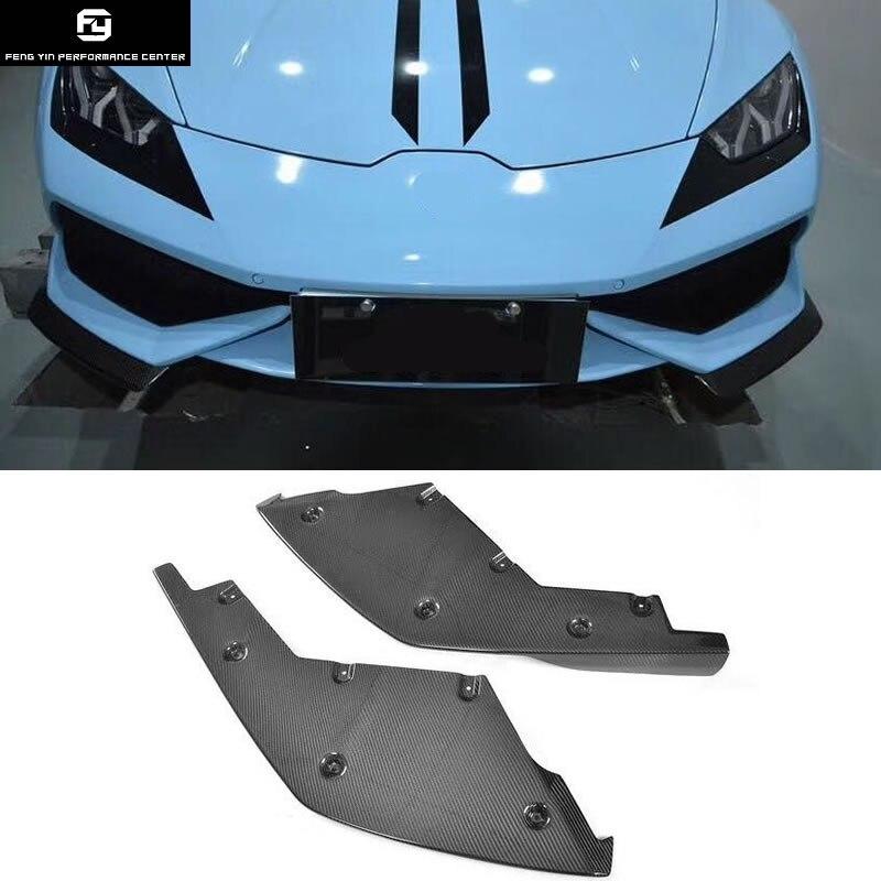 Tabliers latéraux pour pare-chocs avant en Fiber de carbone LP-610 pour Lamborghini Huracan LP610 DMC style 2015