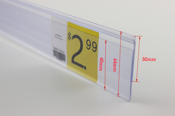 120cm N shelf channel edge cover data strip label holder strip price tag sign holder display