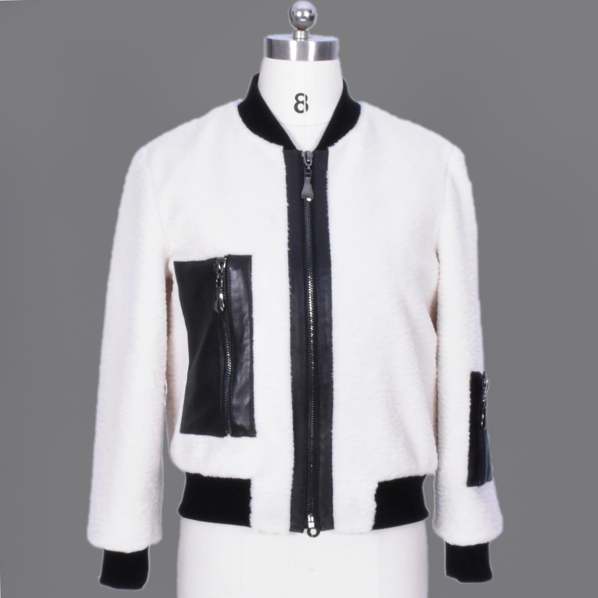 Leather jacket online australia - Ms Fur Sheep Sheared Fur Women S Jacket From Australia Brands Of Demosi Hot Sale Ladies