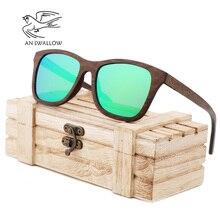 цена на UV400 Polarized Walnut Full 100% Wood Sunglasses Fashion Sun Glasses for Women Men Coated Yellow Gray Lens Cool Handmade Bran