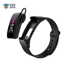 MATEYOU smartwatch bracelet bluetooth headset 2 in 1 call to remind you of action measure heart rate waterproof