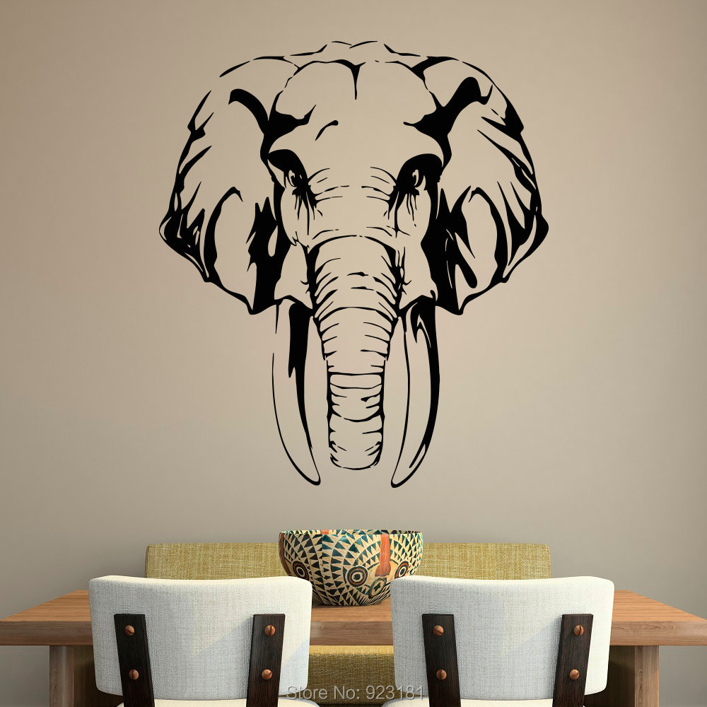 Jungle Elephant African Animals Wall Art Stickers Decal Home