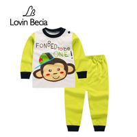 LovinBecia 2pcs Set Baby Underwear Clothing Sets Cartoon Casual Clothes Baby Boy Girl Clothes Suits Toddler