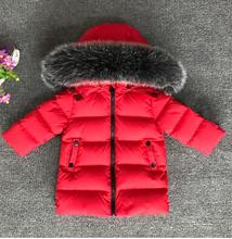 New 2017 Thickened Girls Winter Jackets 2-6T Children Outerwear Winter Coats duck down Coat for Boys parka four color snow put on