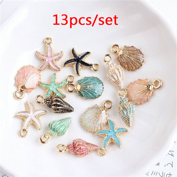 Cute Colorful Conch Sea Shell Charms Ocean Pendants Making Handmade Accessories 1