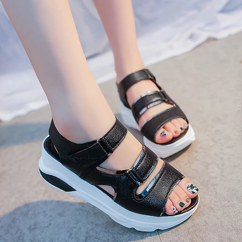 Women Sandals 2017 Summer Shoes Woman Flips Flops Wedges Height Increasing Fashion Platform Female Slides Ladies Shoes Woman phyanic 2017 gladiator sandals gold silver shoes woman summer platform wedges glitters creepers casual women shoes phy3323