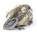 Colar de prata e Pingentes Com Limpar Cubic Zirconia 100% 925 Esterlina Moda Jóias de Prata Frete Grátis