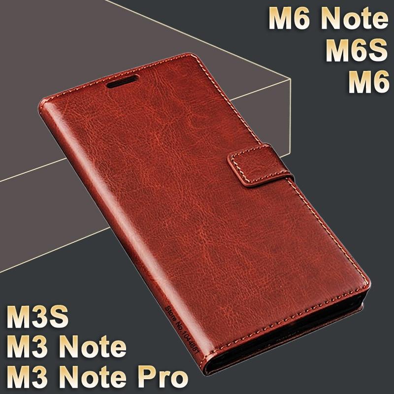 Funda Meizu M6s M 6 S Funda de cuero Crazy Horse para Meizu M6 Funda - Accesorios y repuestos para celulares