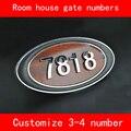 Номер для комнаты  дома  ABS имитация дерева  на заказ  3-4 цифры  индивидуальные пластины для дверей отеля  номер отеля