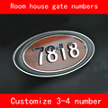 Numéro de porte de chambre maison ABS imitation bois sur mesure 3 4 numéros personnalisés hôtel plaque de porte numéro d'hôtel|gate number|numbers house|door plate -