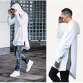 2017 nova marca clothing hoodies dos homens camisolas de hip hop longo zíper streetwear moletom corte prolongado homens hoody camisas masculinas