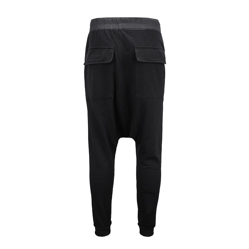 90 S nouveau HipHop RO style haute qualité modèle classique INS joker Chao personnes Terry coton noir loisirs pantalons de survêtement hommes femmes Oversize - 2