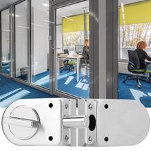 Нержавеющая сталь двойной стеклянный Дверной замок защелка с ручкой для домашних аксессуаров 138A