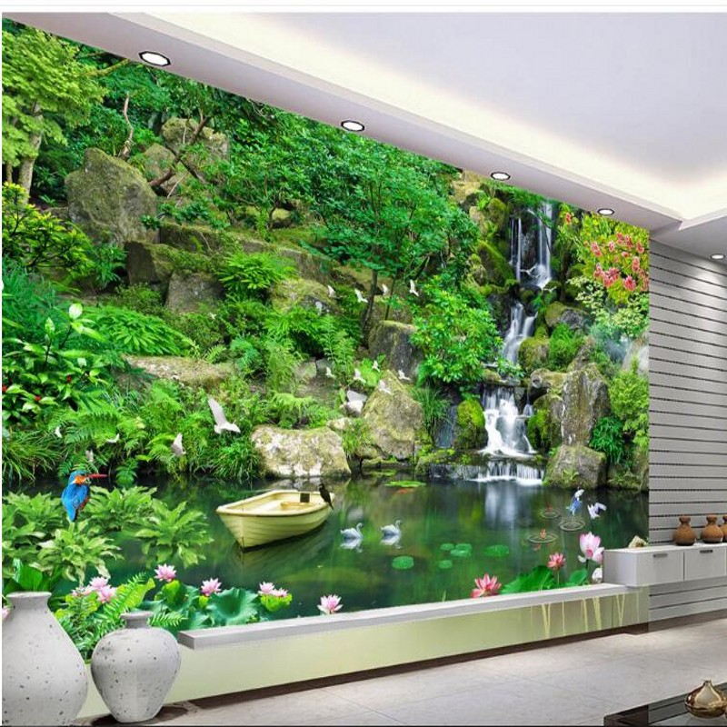 beibehang Custom large - scale murals to ensure high - definition green fresh 3D TV background wall wallpaper papel de parede
