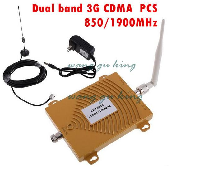 Conjunto completo Dual Band PCS 1900 MHz CDMA 850 Mhz Sinal de Mini PCS CDMA Reforço de Sinal de Telefone Celular repetidor Amplificador de Sinal com antena