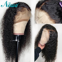 NYUWA Curly Lace front Human Hair Wigs 13x6 Pre Plucked Lace Front Wigs For Black Women Brazilia Remy Hair Wigs With Baby Hair