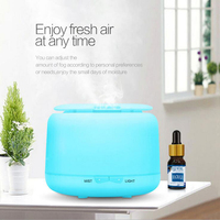 300ML Ultrasonic Air Humidifier Essential Oil Aroma Diffuser Mist Maker Fogger With 7 Colors LED Night