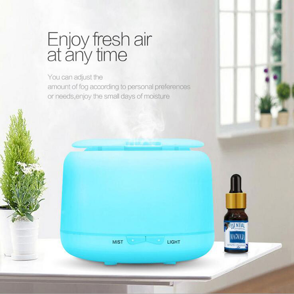 GRTCO 300ML Ultrasonic Air Humidifier Essential Olje Aroma Diffuser Mist Maker Fogger med 7 farger LED Night Light