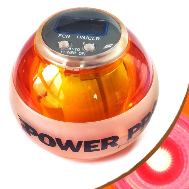 12000 RPMS Gyroscope Power wrist ball Athletic Gyro Wrist Arm Exercise Strengthener Force Ball Led Light Speed Meter Counter