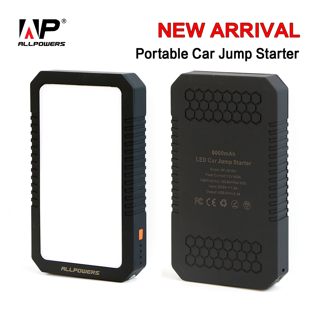 ALLPOWERS Power Bank Mobile Phone PowerBank 400A Peak Current Car Jump Starter Car Booster