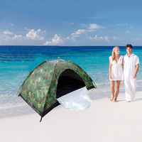 3 4 people camouflage tent outdoor camping tent beach travel gift UV protection tent