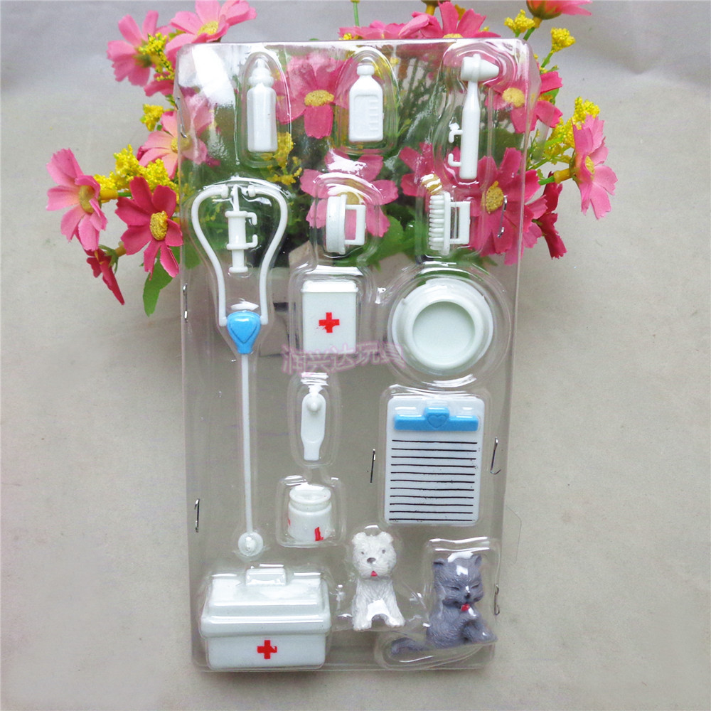 14pcs/lot Medical Kit Doll Pet Toys For Barbie Doll Baby Toys Doll Accessories Kids Best Christmas Gift