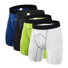 Для мужчин Фитнес шорты спортивные для бега потных гибкий одежда обтягивающие колготки База под Слои шорты