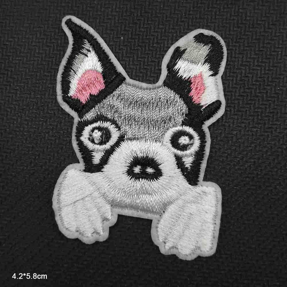 동물 강아지 강아지 아이언 수 놓은 헝겊 의류 패치 의류 소녀 소년 도매