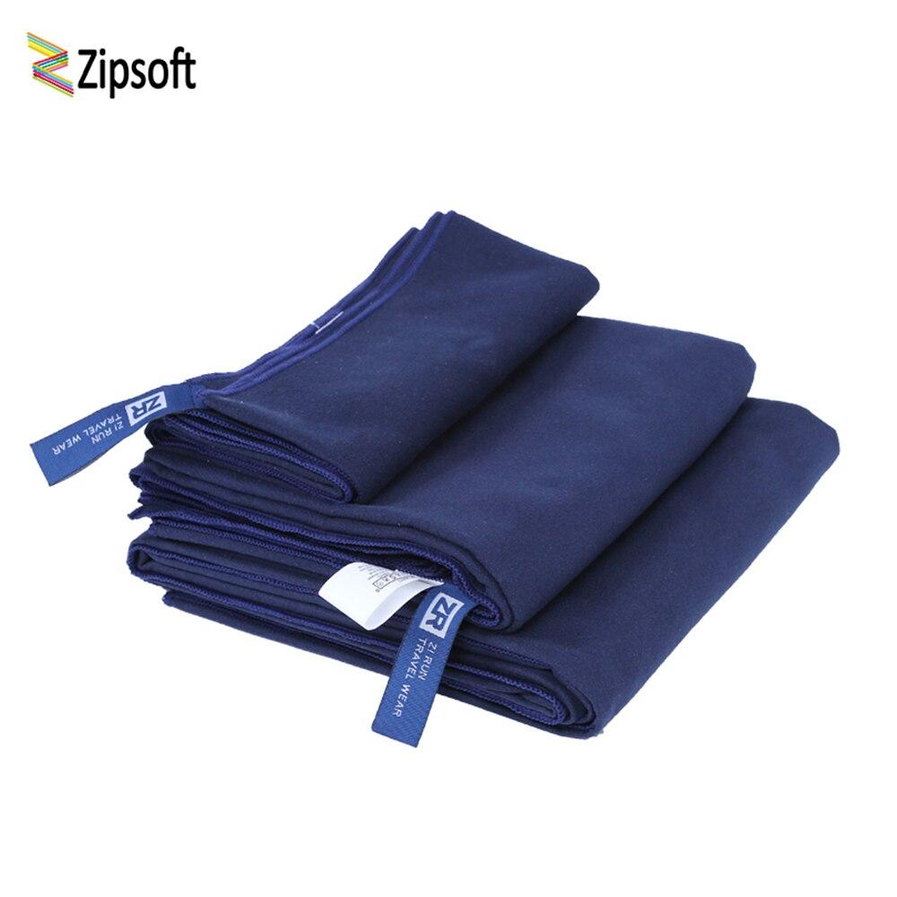 Zipsoft toalha de praia microfibra azul escuro toalhas de secagem rápida para banho de acampamento natação esportes yoga esteira 2019 novo
