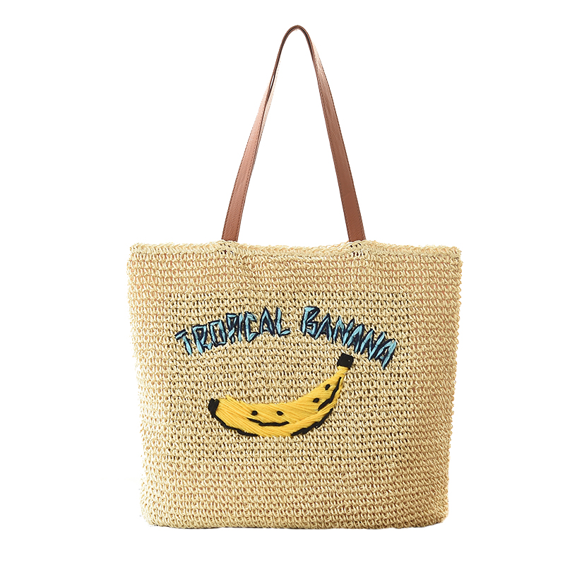 ФОТО Holiday women messenger bags wind banana straw bag women handbag Beach Shoulder Bag Handbag straw woven women bag
