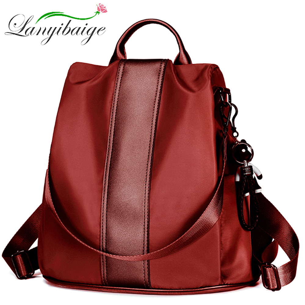 LANYIBAIGE Fashion Waterproof Oxford Women Anti-theft Backpack High Quality School Bag For Women Multifunctional Travel Bags